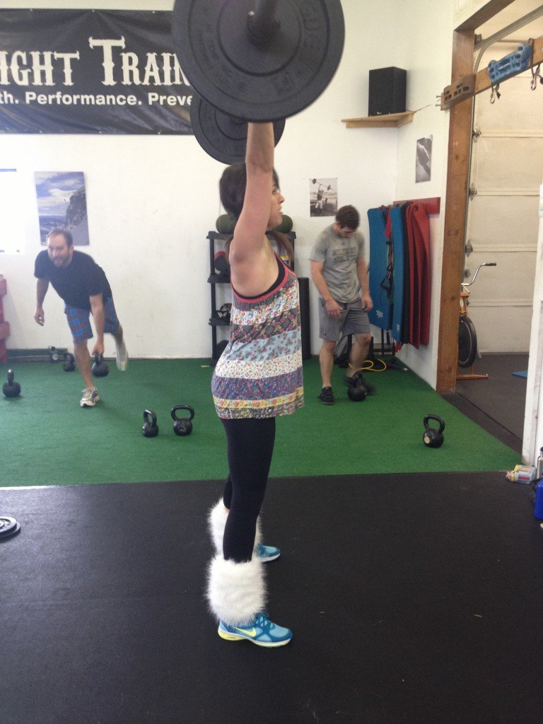 Kelly working hard with some sweet leg warmers!