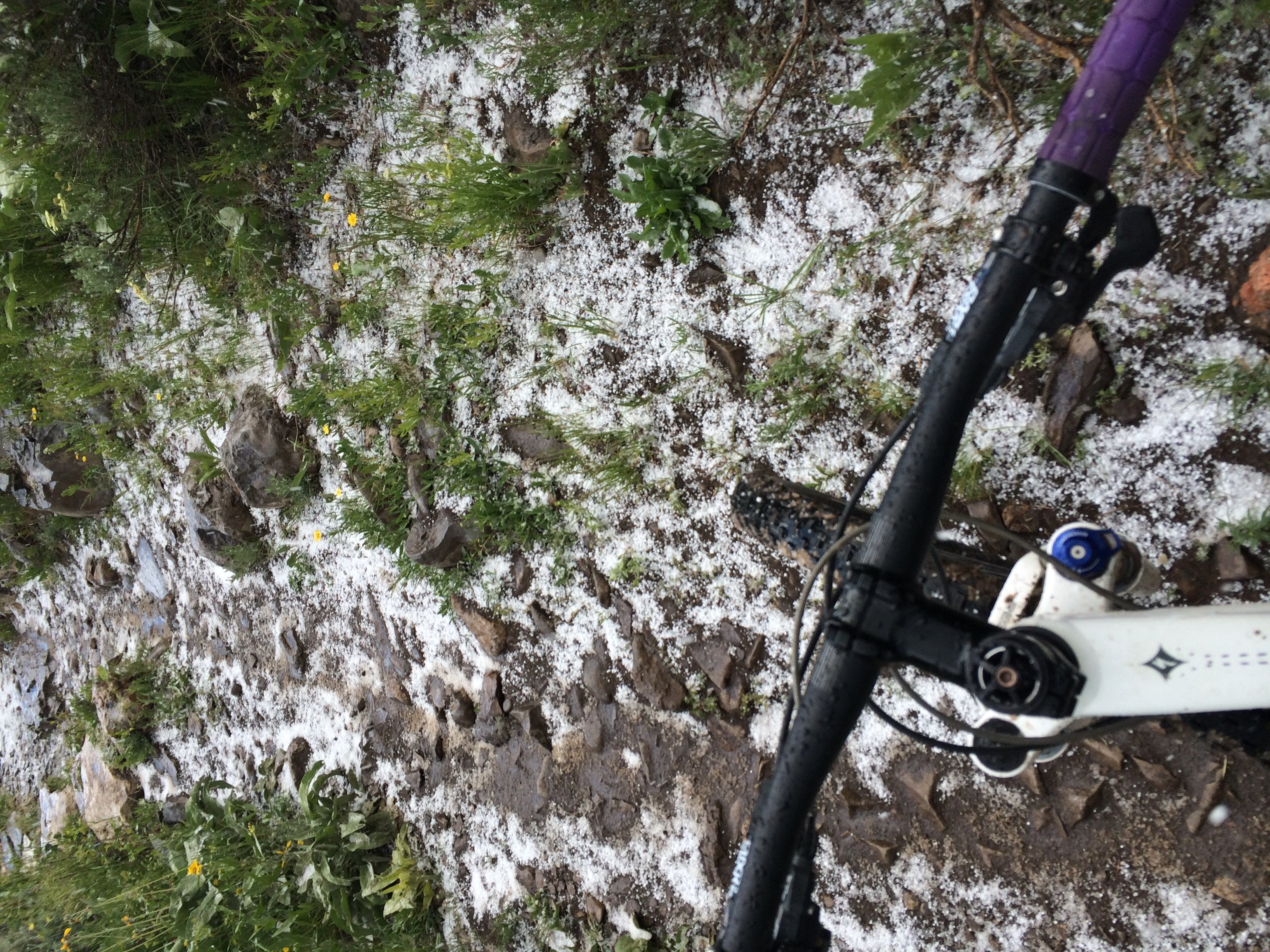 Long training rides in hail storms
